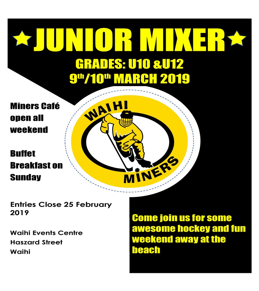 Waihi Miners Junior Mixer
