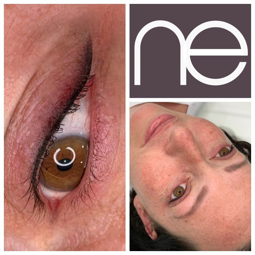 Natural Enhancement Semi Permanent Eyeliner Before And After
