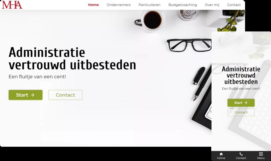 M. Hoekstra Administraties portfolio afbeelding van home pagina