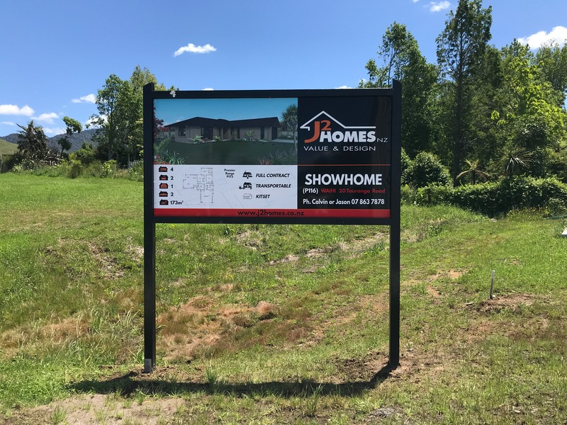 New Sign at Parry Palm Ave Waihi