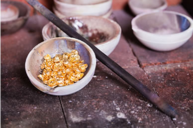 Photograph of raw gold