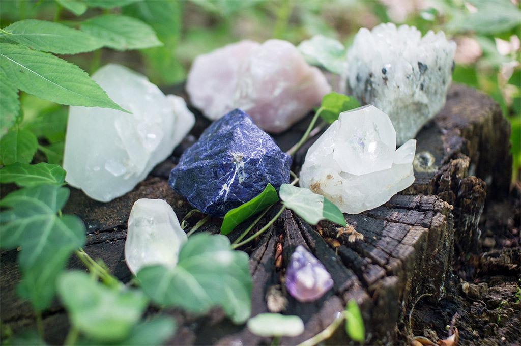 Crystals with reflexology