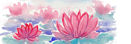 Painting of lotus flower
