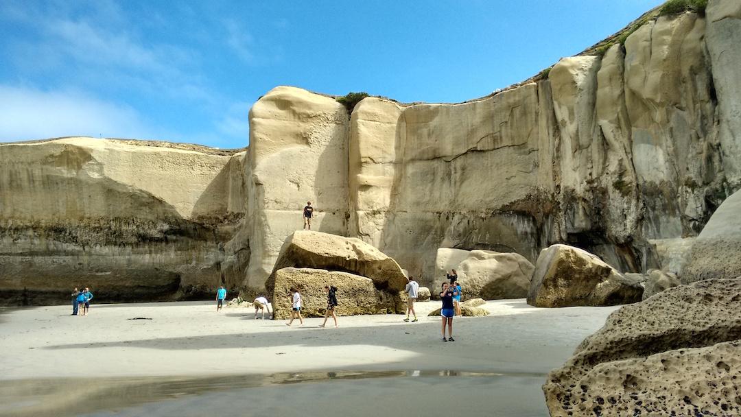 Cliffs on the beach