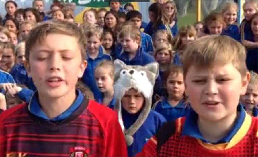 Students Cheer on Rugby Team