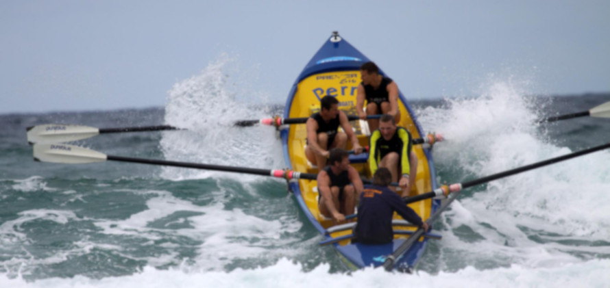 PSLC's crew in a boat in the sea