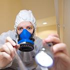 Image of asbestos surveyor at work