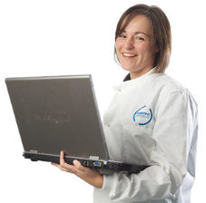 SSL consultant with laptop