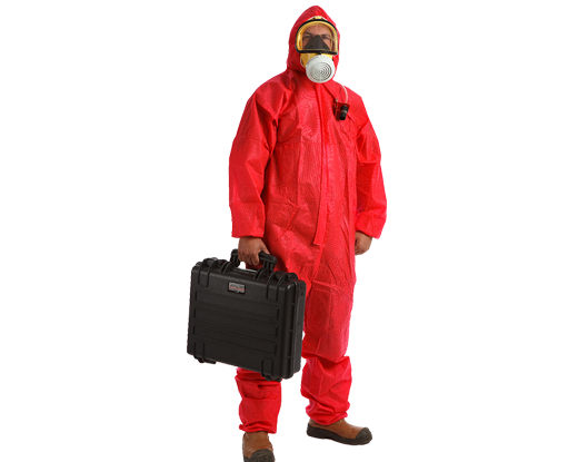 Asbestos removal operative and personal monitor