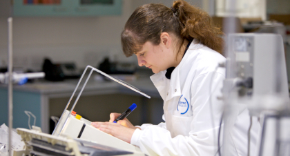 Environmental Consultant analysing a sample