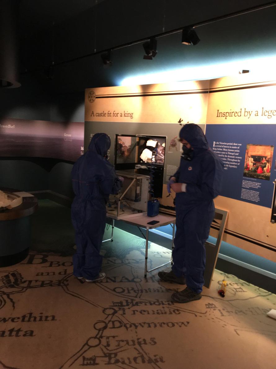 Asbestos analysts at Tintagel Castle