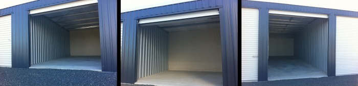 Storage sheds in 3 sizes