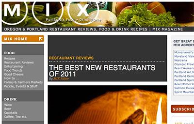 MIX MAGAZINE: The Best New Restaurants of 2011