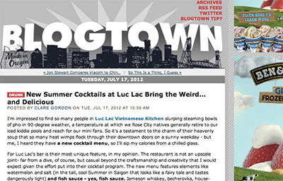 PORTLAND MERCURY: NEW SUMMER COCKTAILS AT LUC LAC BRING THE WEIRD… AND DELICIOUS