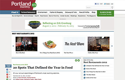 PORTLAND MONTHLY MAGAZINE: 20 SPOTS THAT DEFINED THE YEAR IN FOOD
