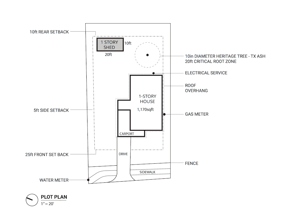 Sample shed plot plan plan