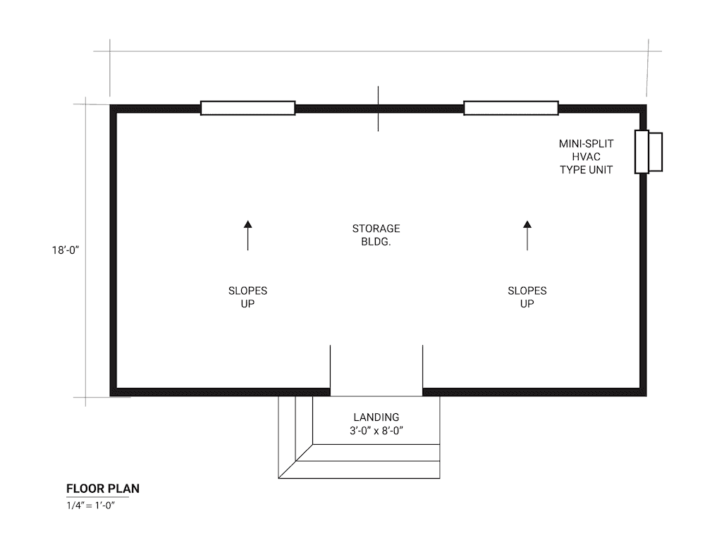 Sample shed floor plan plan
