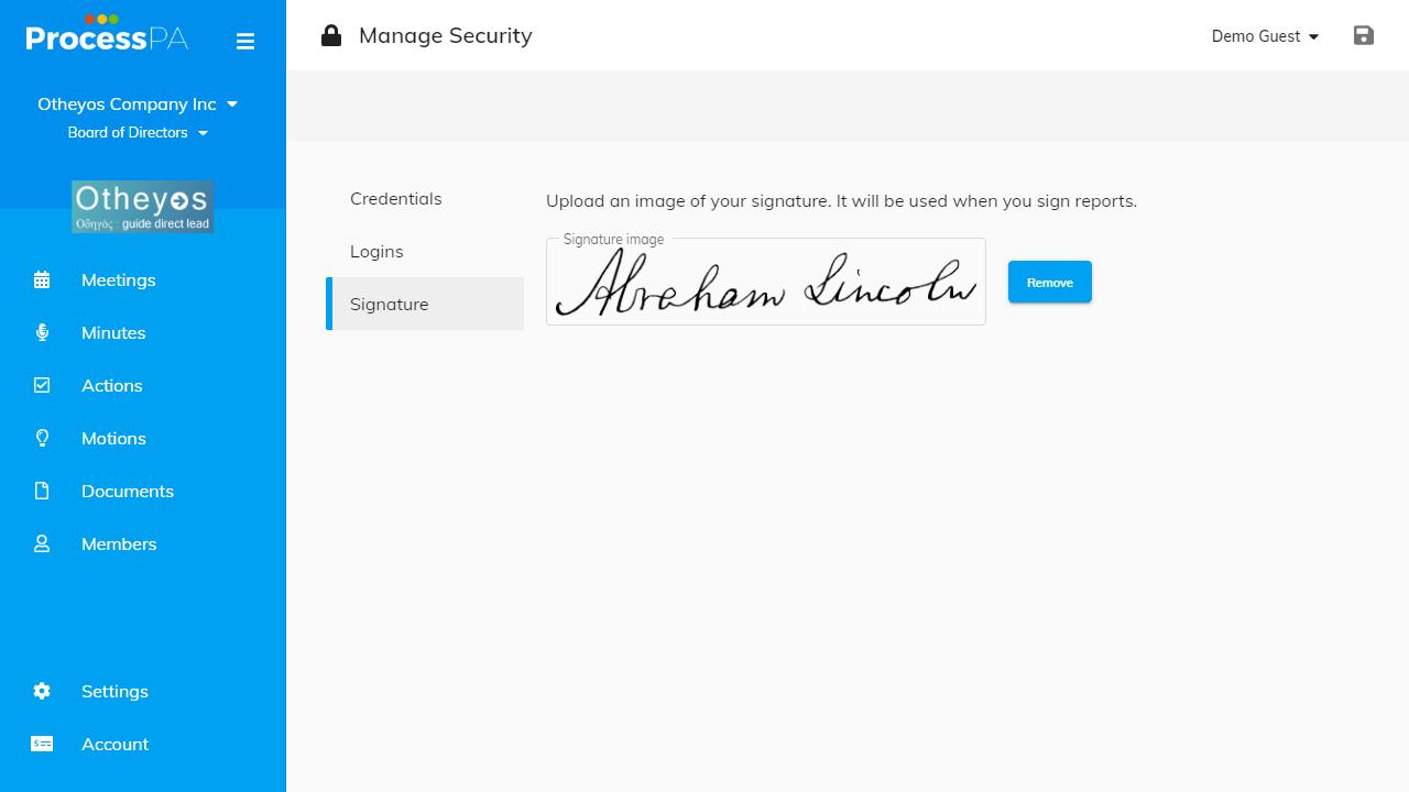 Signature Upload