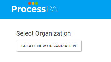 Create New Organization button