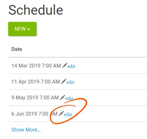 Edit Schedule