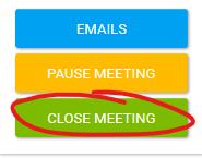 Close Meeting Button