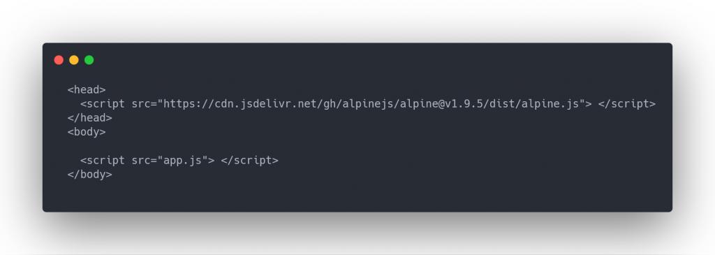 setting up index html