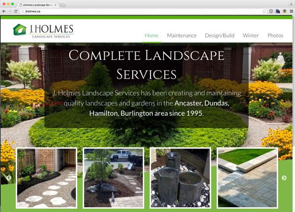 Portfolio item: J. Holmes Landscape Services