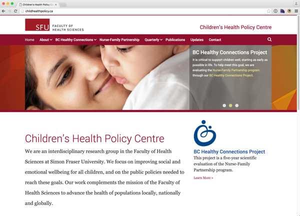 Portfolio item: Child Health Policy Centre at Simon Fraser University