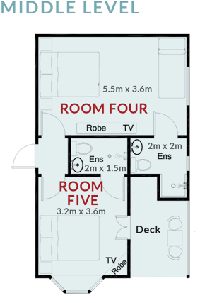 Room Four and Five Floorplan