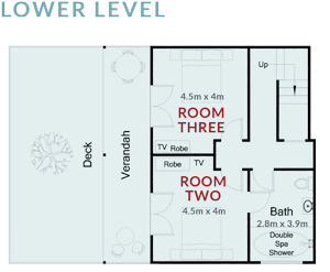 Room Two and Three Floorplan