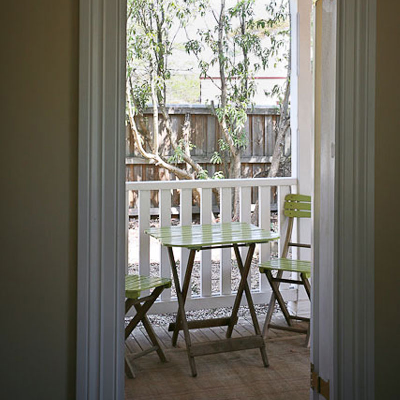 French Doors to Small Deck Area