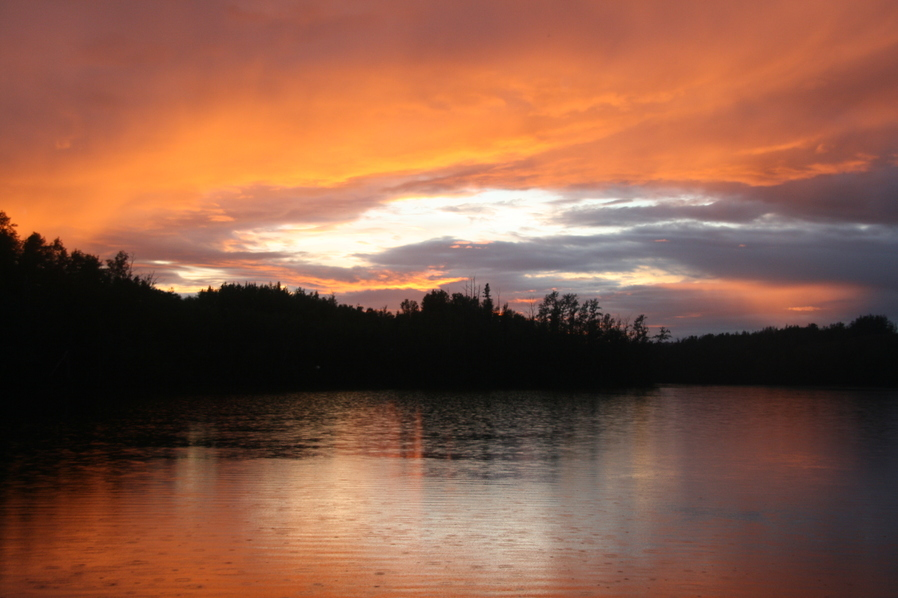 Sonnenuntergang bei Valdez, Alaska
