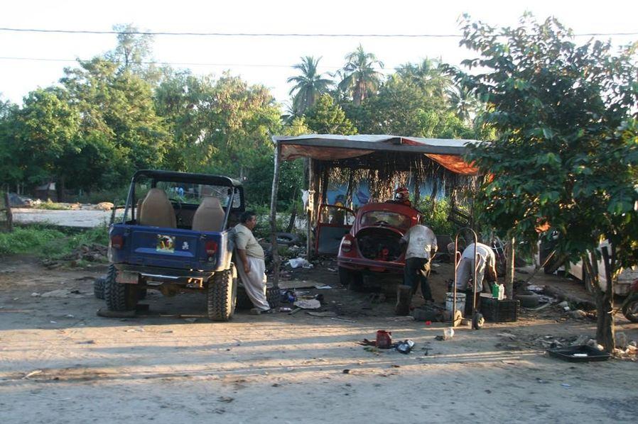 Werkstatt in Mexiko