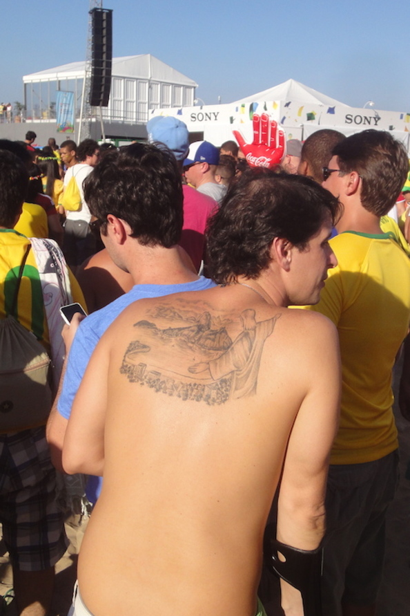 Public Viewing zur WM in Rio de Janeiro Brasilien