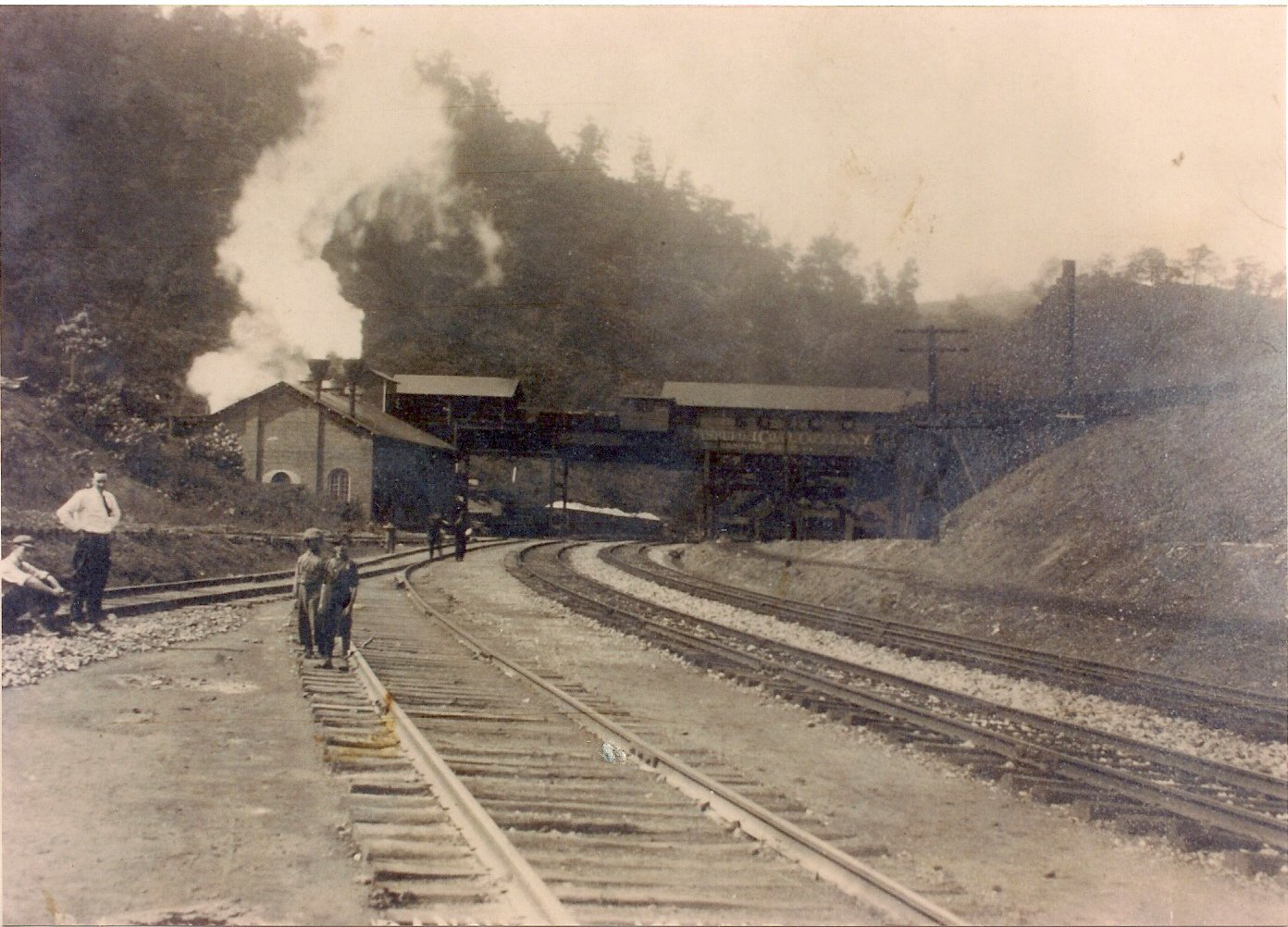 Banning # 2 coal mine in Whitsett, PA circa 1920 (Photo courtesy of the Whitsett Historical Society)