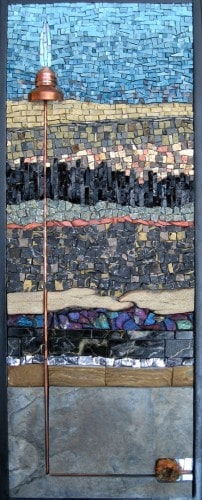 """Rachel Sager """"Deep Well"""" mosaic - Marcellus drilling and geology"""