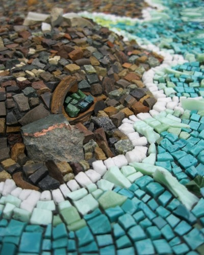 """Rachel Sager """"Ode to a legacy"""" mosaic coastline map cartography"""