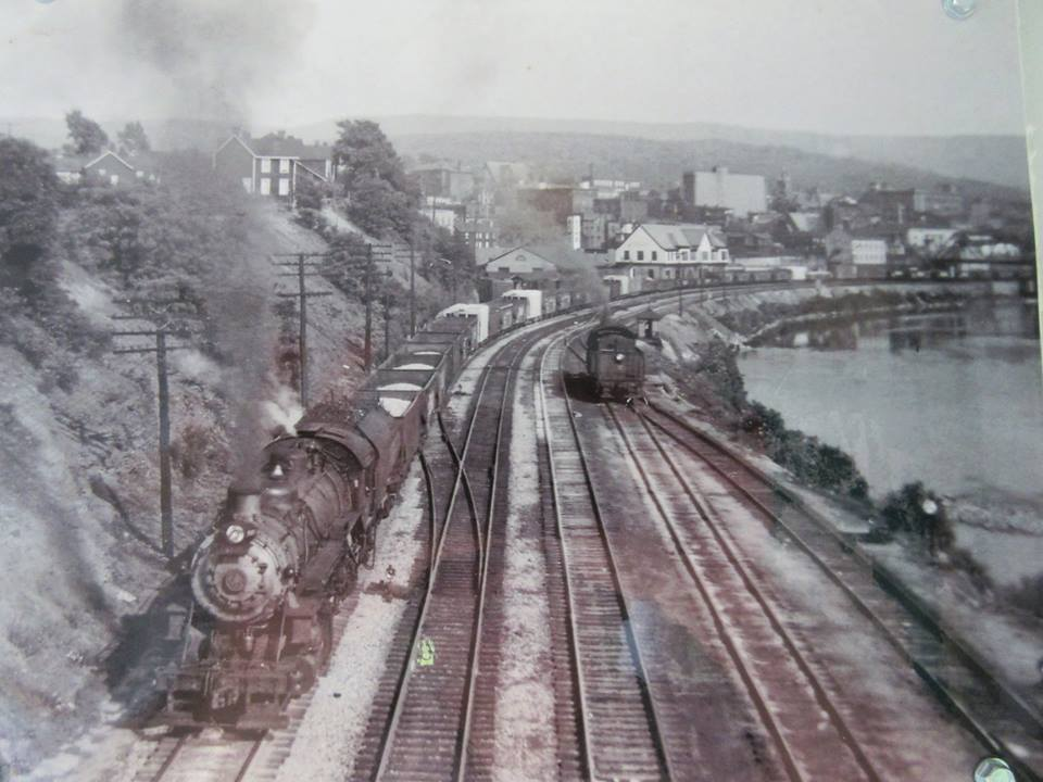 Vintage picture of a train leaving Connellsville, Pennsylvania. (Photo courtesy of Youghiogheny River Valley History)