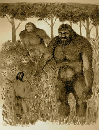 Sasquatch and natives