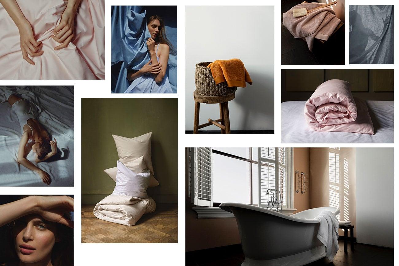 Een verzameling van de campagne beelden van Kepri Cotton