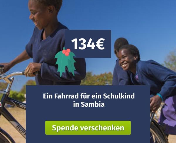 Spende verschenken World Bicycle Relief