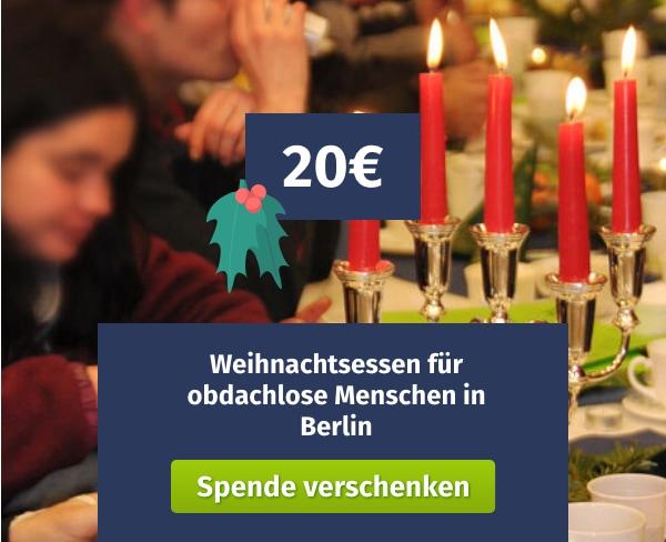 Spende verschenken Berliner Stadtmission