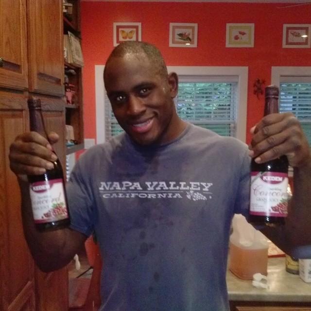 Drinking grape juice instead of wine
