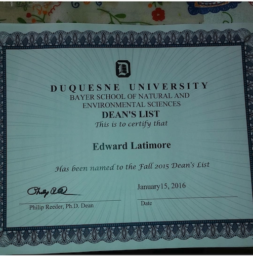 Making the Dean's List