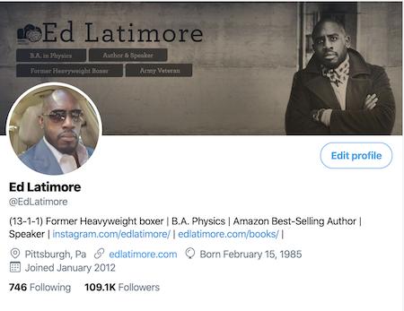 Over 109k followers on Twitter