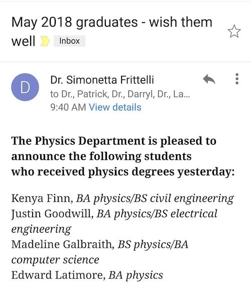 Master Fields Exam results