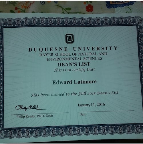 Making the Dean's List in college