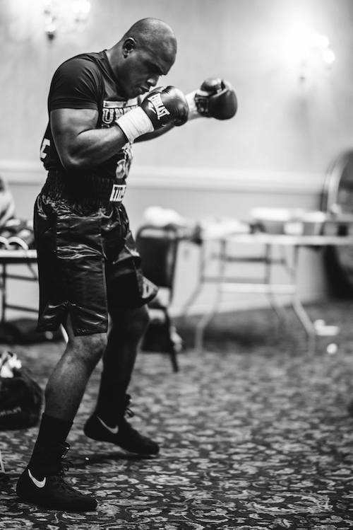 Shadowboxing before a fight