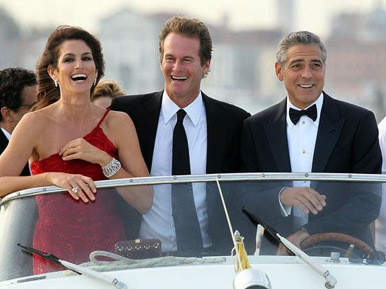 George Clooney, Cindy Crawford, and Rande Gerber at the 68th Venice Film Festival