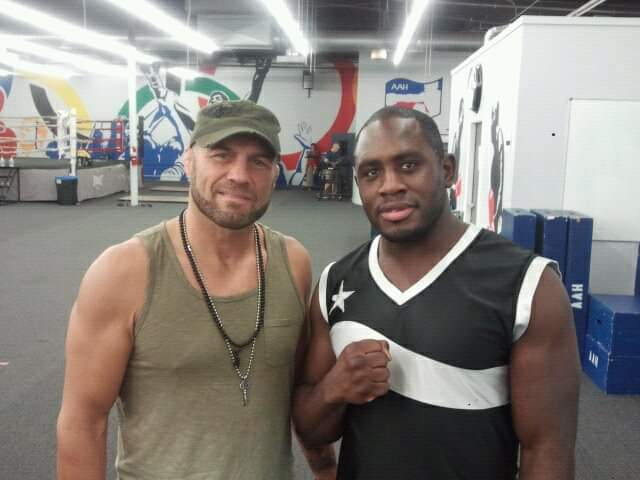 Ed Latimore with Randy Couture